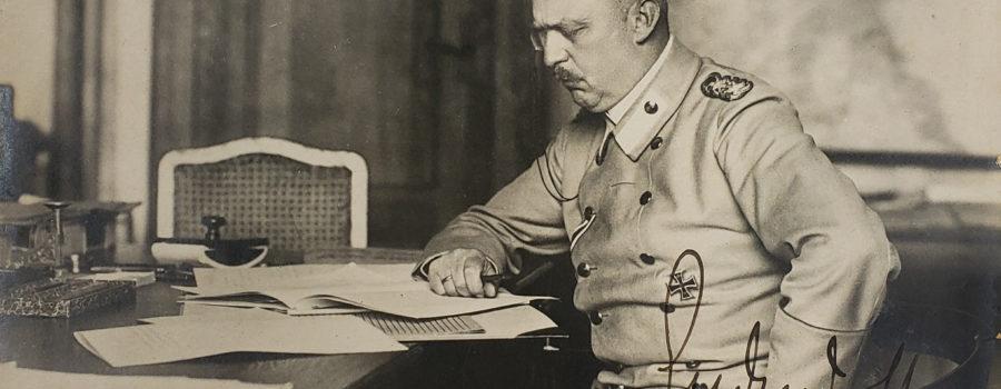 Erich Ludendorff – Autograph