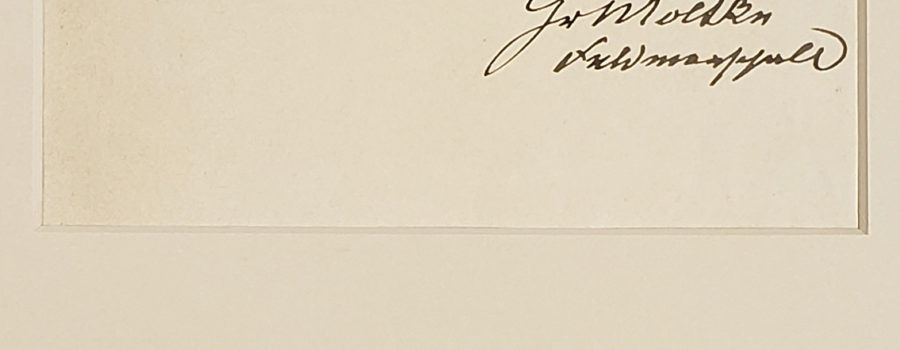 Helmuth von Moltke the Elder – Autograph