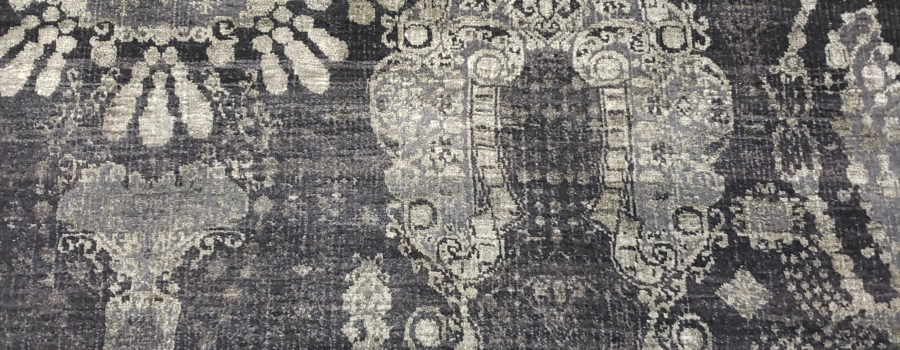 Oriental Rug – Black and Gray