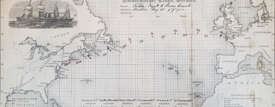 German Transatlantic Map