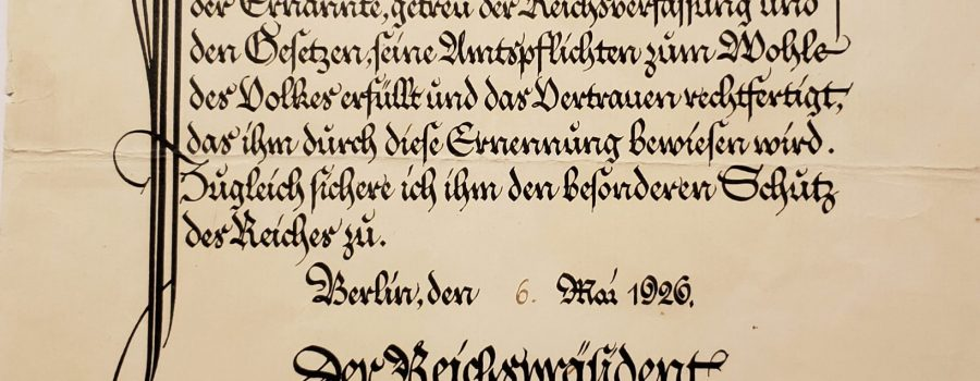 Paul von Hindenburg – Signature