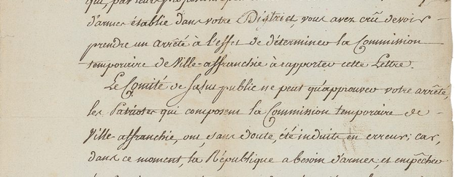 Lazare Carnot – Signed Letter