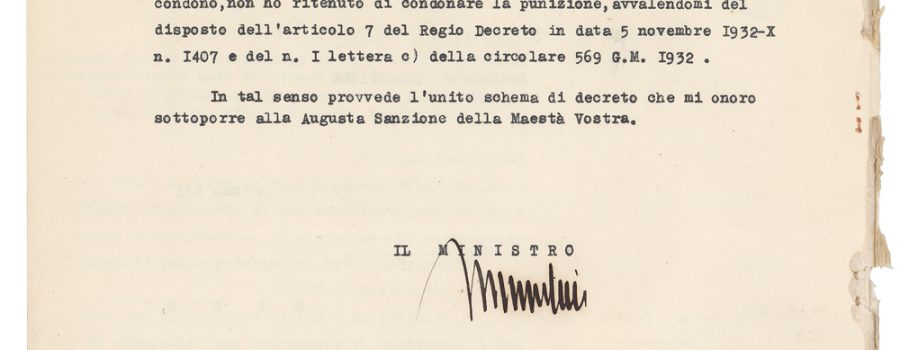 Benito Mussolini – Signed Letter