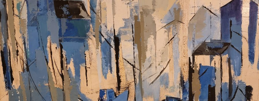 Unknown – Large Blue Modern